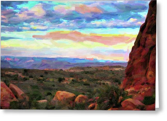 Moab Sky Greeting Card by Gary Baird