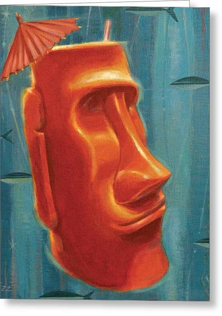 Moai Mai Tai Greeting Card