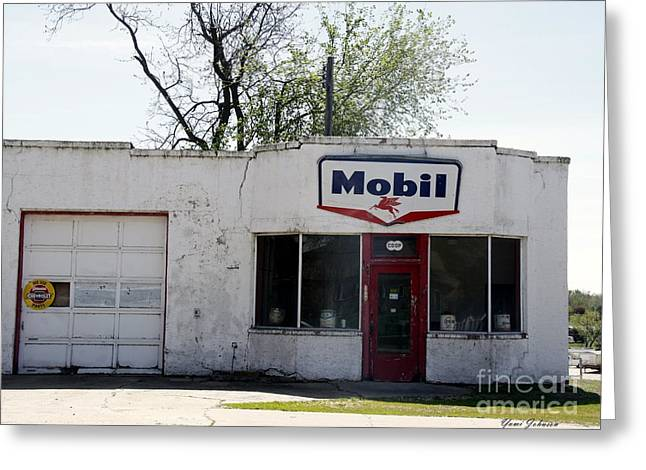 Mobil Gas Signe Greeting Card