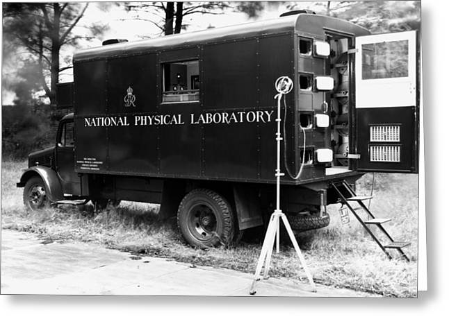 Mobile Acoustics Laboratory, 1940s Greeting Card