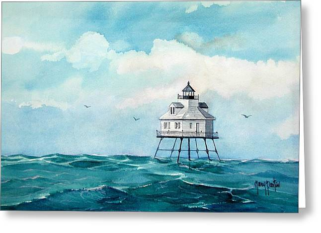 Mobile Middle Bay Light Greeting Card