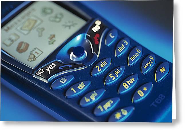 Mobile Phone Greeting Card by Tek Image
