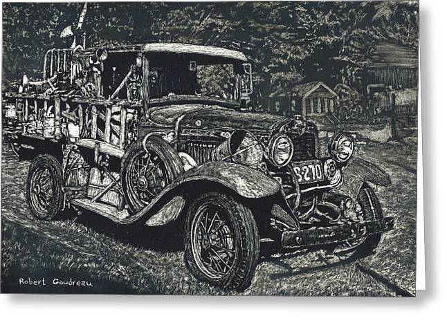 Model A Ford Greeting Card by Robert Goudreau