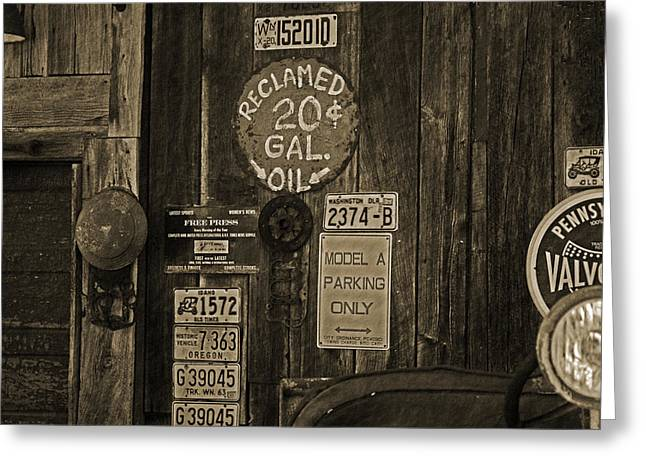 Model A Parking Greeting Card by Terrie Taylor