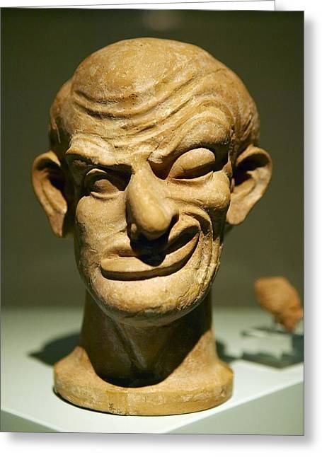 Model Of A Disfigured Person Greeting Card by Colin Cuthbert