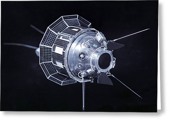 Model Of The Luna 3 Spacecraft Greeting Card