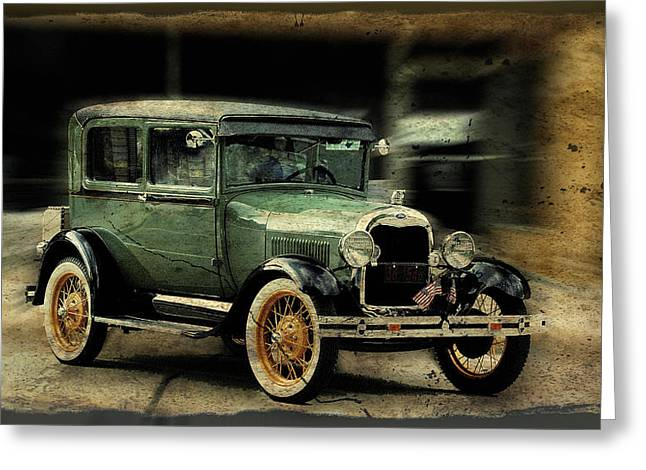 Model T Greeting Card by Janice Adomeit