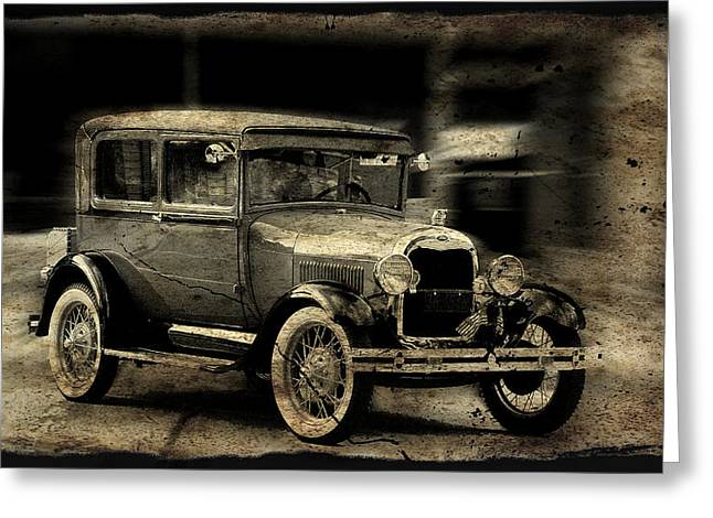 Model T No. 2 Greeting Card by Janice Adomeit
