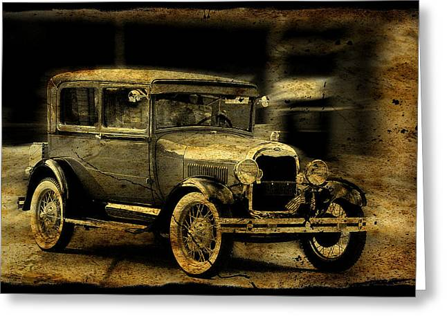 Model T No. 3 Greeting Card by Janice Adomeit