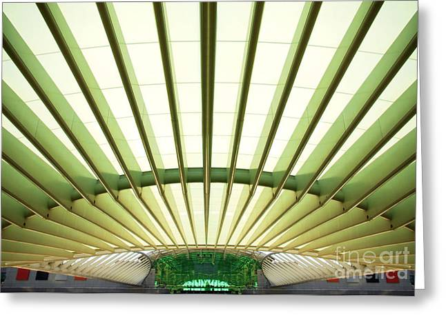 Modern Architecture Greeting Card by Carlos Caetano