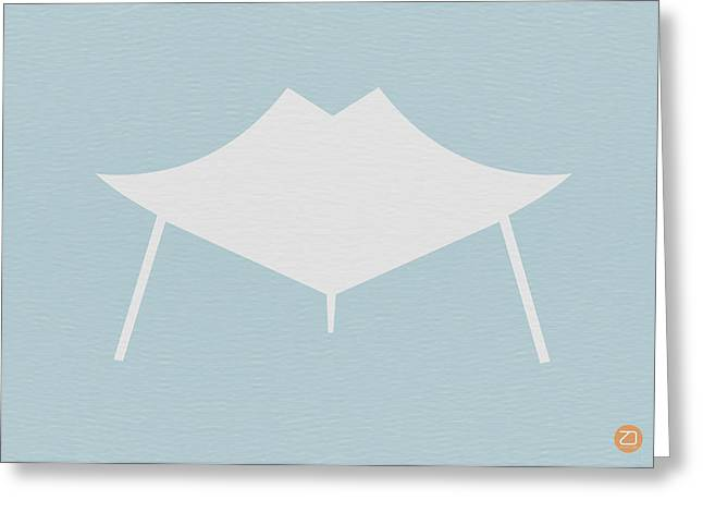 Modern Chair Greeting Card by Naxart Studio