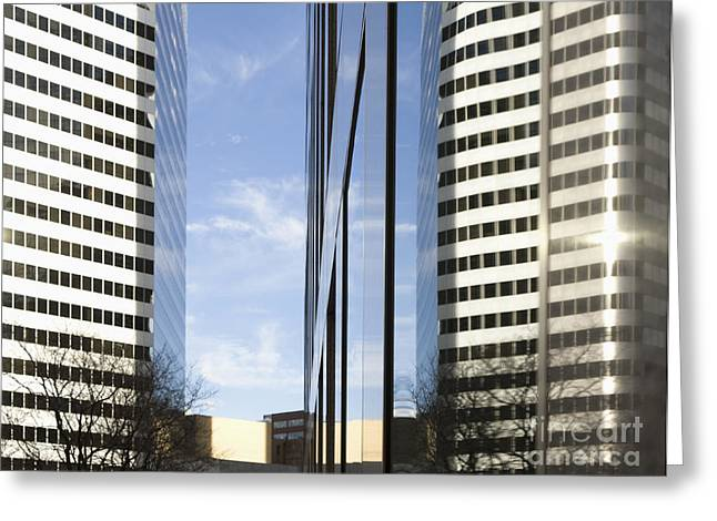 Modern High Rise Office Buildings Greeting Card