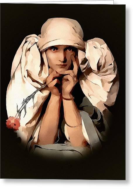 Modern Madame Greeting Card by Georgiana Romanovna