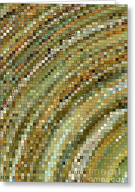 Modern Mosaic Art- One Greeting Card by Mark Lawrence