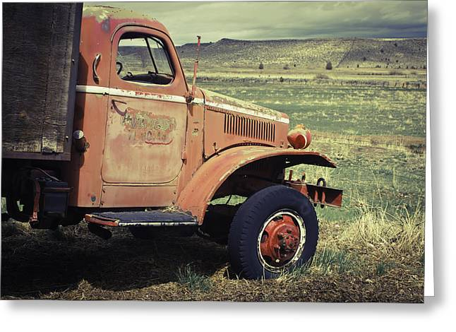 Greeting Card featuring the photograph Modoc County Fire Truck by Sherri Meyer