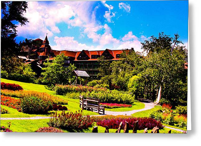 Mohonk Mountain House Garden Greeting Card by Michael Ray