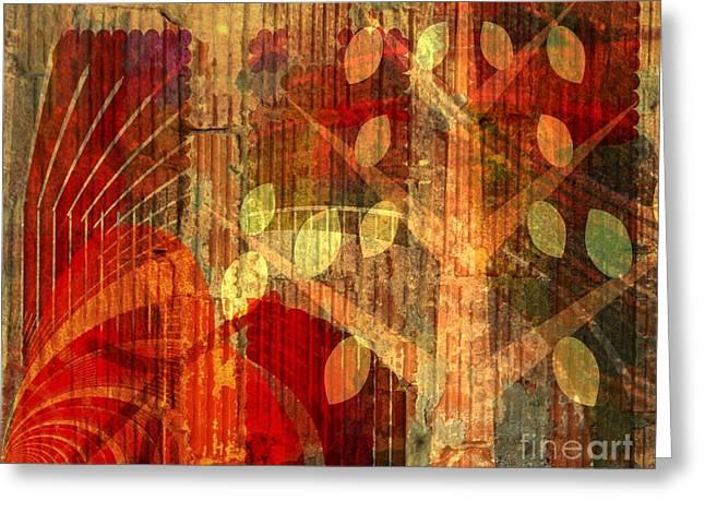 Moisson - Harvest Greeting Card by Fania Simon