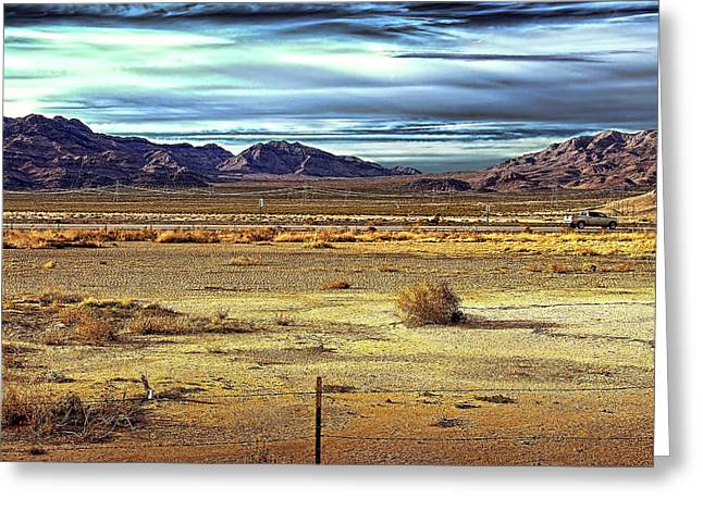 Mojave Desert Greeting Card by Andre Salvador