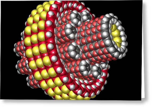 Molecular Planetary Gear Greeting Card