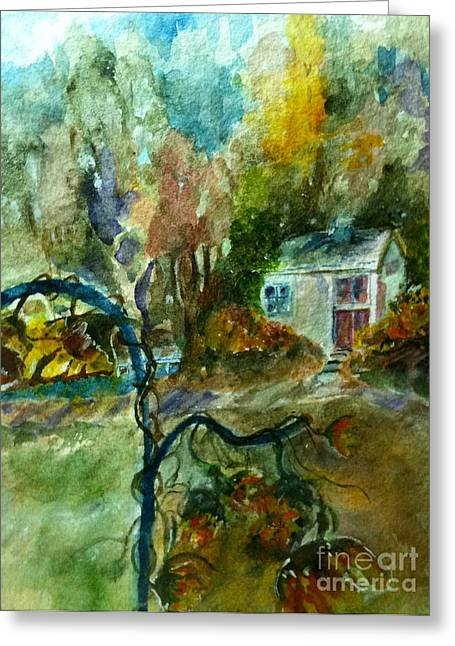 Greeting Card featuring the painting Molly's Paradise by MaryAnne Ardito