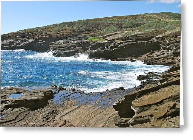Molokai Lookout 0655 Greeting Card by Michael Peychich