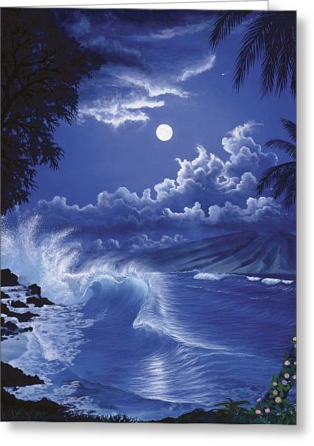 Molokai Moonlight Greeting Card
