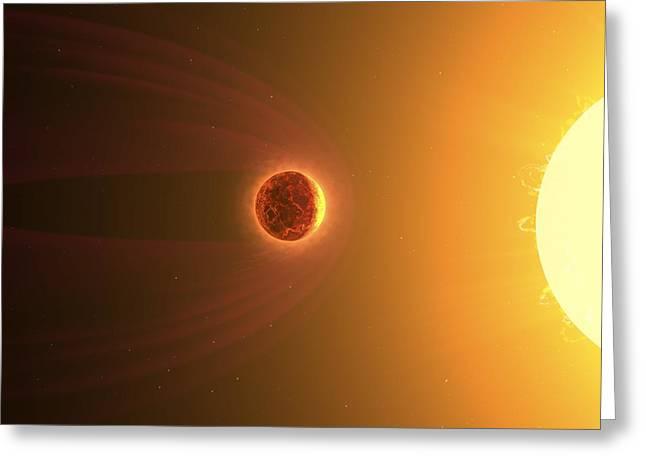 Molten Planet, Computer Artwork Greeting Card