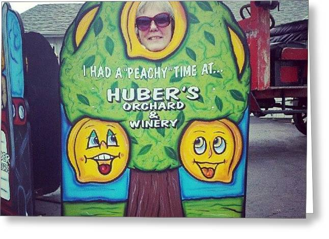 #mom #hubers #indiana #funny Greeting Card