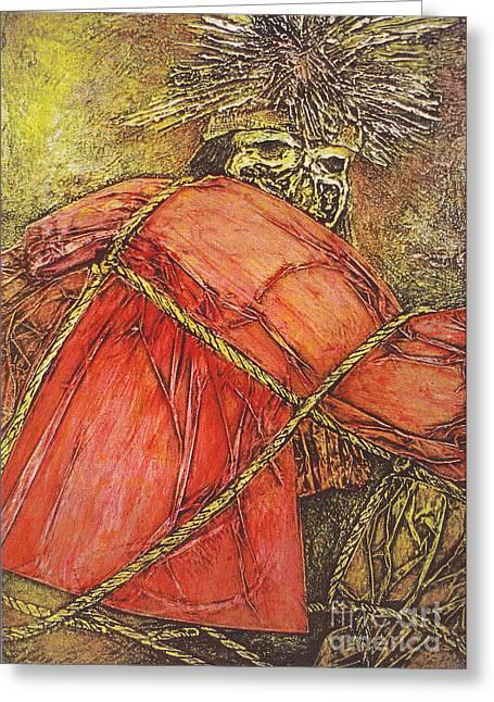 Momia Chiribaya Greeting Card by Pamela Iris Harden