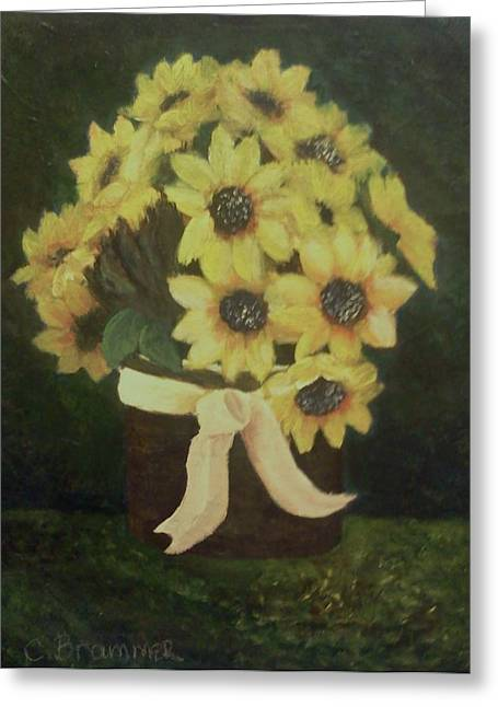 Greeting Card featuring the painting Mom's Bouquet by Christy Saunders Church