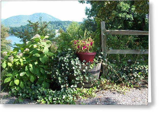 Greeting Card featuring the photograph Mom's Garden by Lou Ann Bagnall