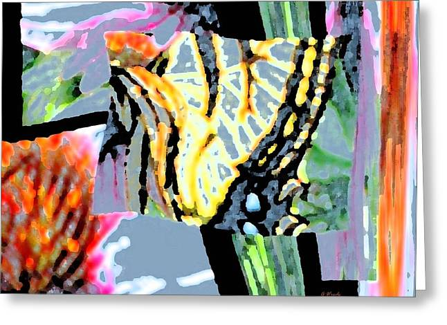 Monarch In Tall Grasses Greeting Card by Gretchen Wrede