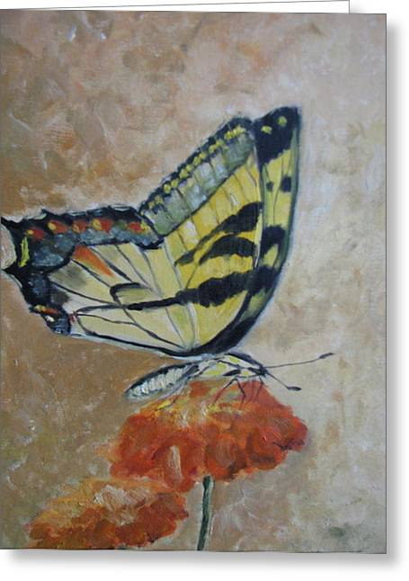 Monarch Greeting Card by Iris Nazario Dziadul