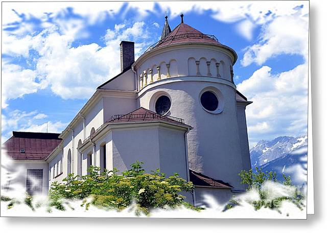 Monastery In Tyrol Greeting Card