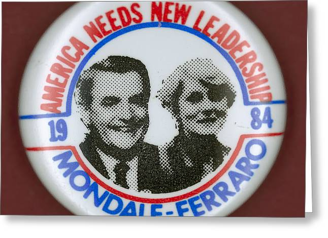 Mondale Campaign Button Greeting Card