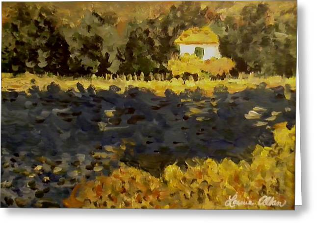 Monet House Greeting Card by Laurie Allan