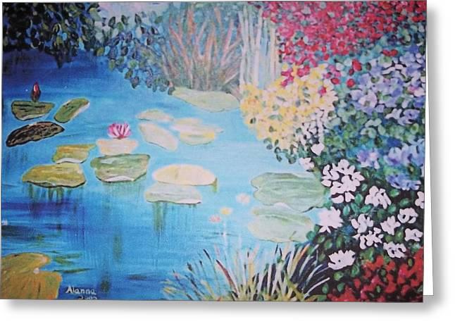 Monet Style By Alanna Greeting Card by Alanna Hug-McAnnally