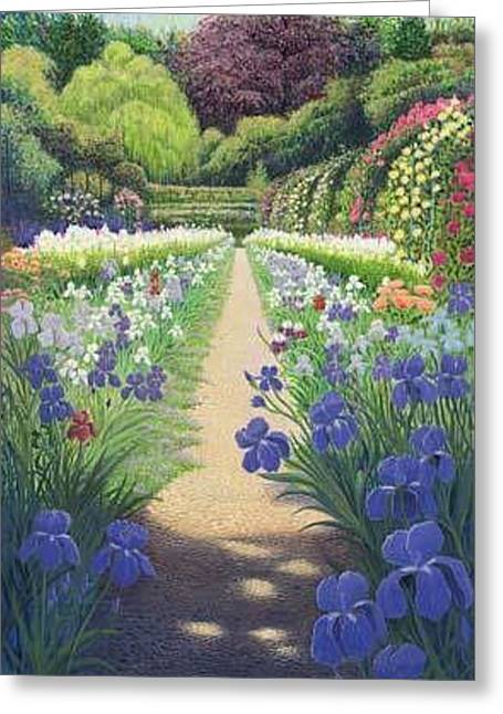 Monets Garden Greeting Card by Patrick Funke