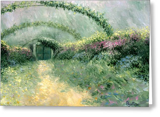 Monet's Trellis IIi Greeting Card