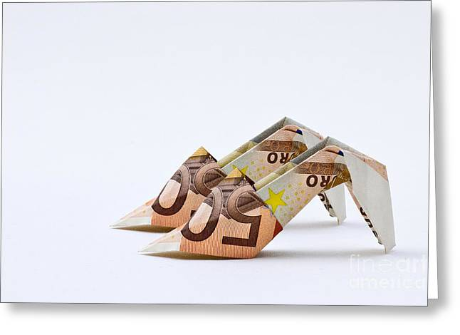 Money For Shoes Greeting Card by Catherine MacBride