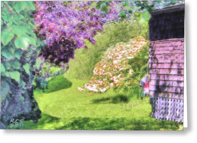 Monhegan Blooms Greeting Card by Richard Stevens