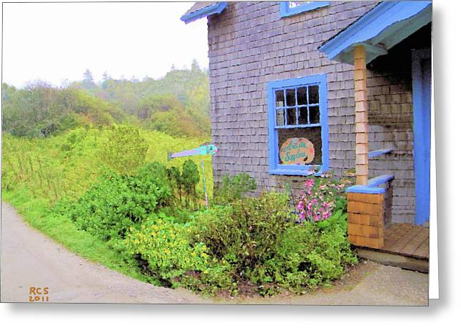 Monhegan Gallery Greeting Card by Richard Stevens