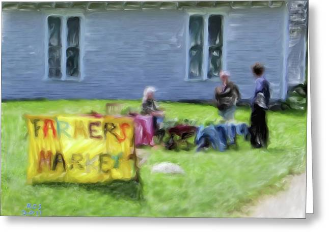 Monhegan Market Greeting Card by Richard Stevens
