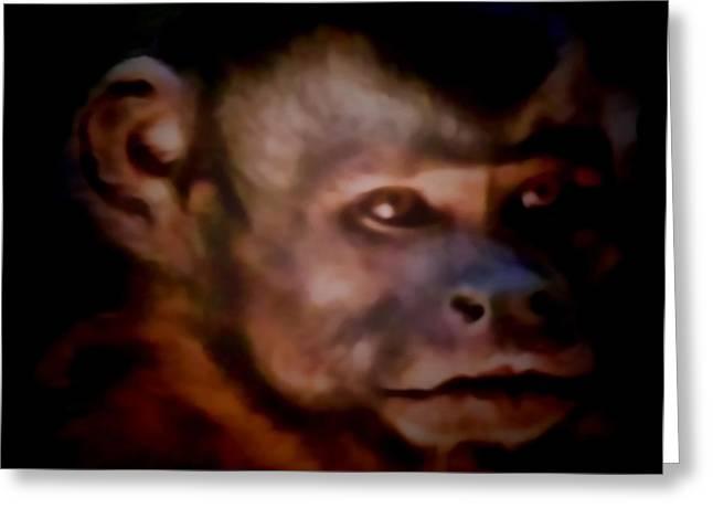 Monkey See Greeting Card by Debra     Vatalaro