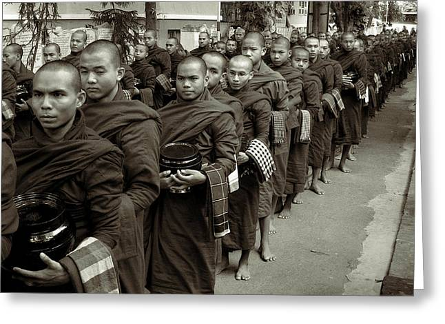 Monks In The Monastery Greeting Card by RicardMN Photography