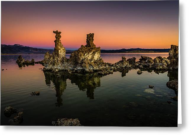 Mono Lake Tufa At Sunrise Greeting Card