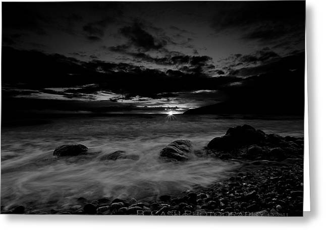 Monochrome Sunset  Greeting Card by Beverly Cash