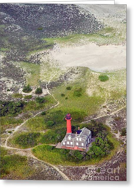 Monomoy Light At Monomoy Wildlife Refuge In Chatham On Cape Cod Greeting Card by Matt Suess