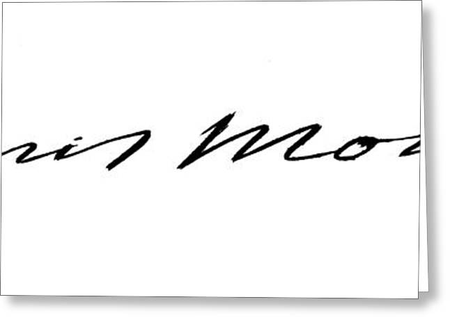 Monroes Autograph Greeting Card by Granger
