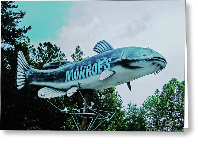 Monroe's Catfish  Greeting Card by Lizi Beard-Ward